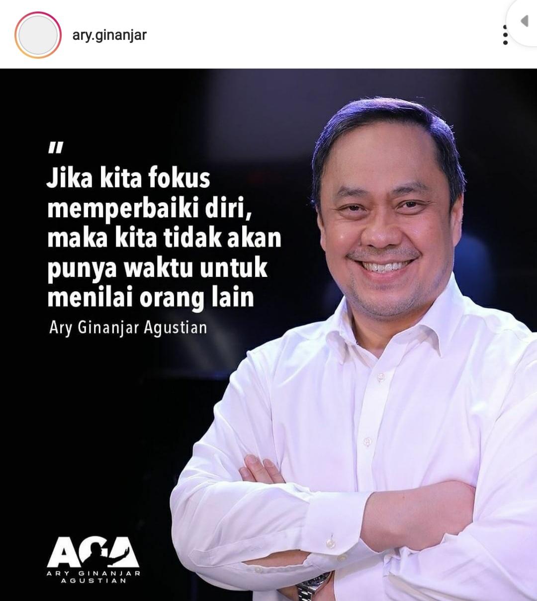 Ary Ginanjar Agustian - Jika kita fokus memperbaiki diri, maka kita tidak akan punya waktu untuk menilai orang lain