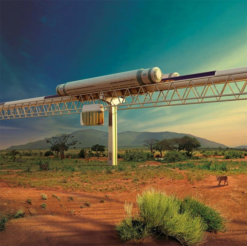 Transportasi SkyWay Masa Depan.